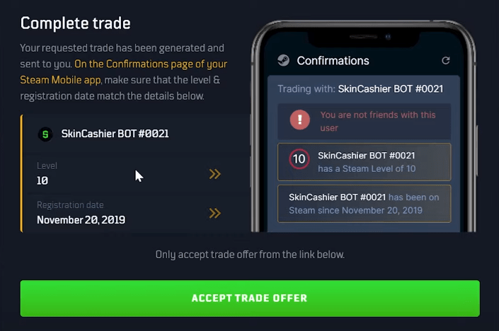 accept trade offer