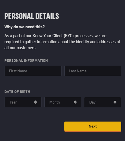 csgoempire signup form